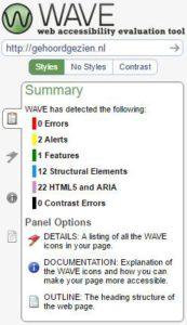 resultaat wave website