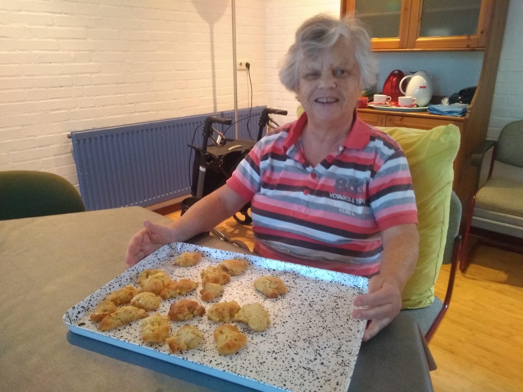 De koekjes zijn klaar om de oven in te gaan