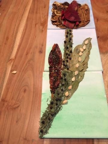 De geurende tulp, het rechterpaneel